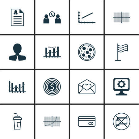 keywords adult: Set Of 16 Universal Editable Icons. Can Be Used For Web, Mobile And App Design. Includes Icons Such As Plastic Card, Business Goal, Manager And More. Illustration