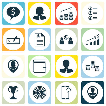 ability to speak: Set Of Hr Icons On Messaging, Coins Growth And Pin Employee Topics. Editable Vector Illustration. Includes Wallet, Success, Purse And More Vector Icons. Illustration