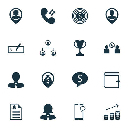 applicant: Set Of Human Resources Icons On Money Navigation, Pin Employee And Business Goal Topics. Editable Vector Illustration. Includes Dollar, Profile, Chat And More Vector Icons.