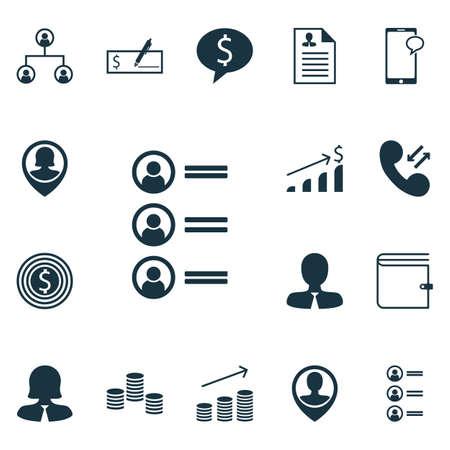 Ensemble d'icônes de ressources humaines sur la femme d'affaires, les demandeurs d'emploi et les sujets de localisation des employés. Illustration vectorielle modifiable Comprend Profil, Employé, Succès et plusieurs icônes vectorielles.