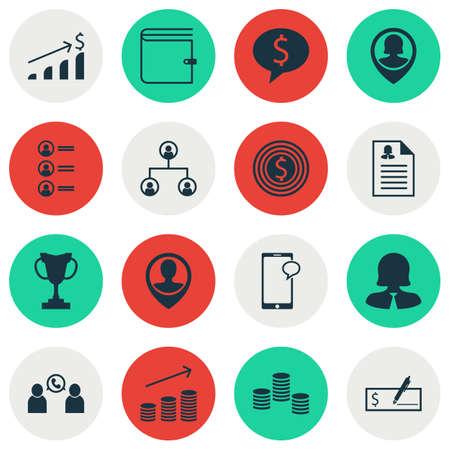 Ensemble d'icônes de gestion sur l'affaire, la croissance de pièces de monnaie et les sujets de demandeurs d'emploi. Illustration vectorielle modifiable. Inclut le chat, le mâle, la croissance et plus d'icônes de vecteur.
