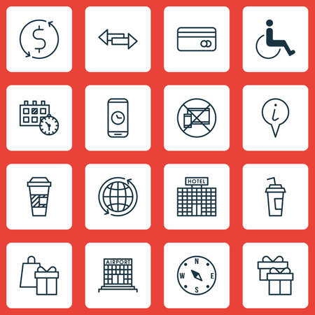box construction: Set Of Transportation Icons On Hotel Construction, Plastic Card And Takeaway Coffee Topics. Editable Vector Illustration. Includes Box, Construction, Hotel And More Vector Icons. Illustration