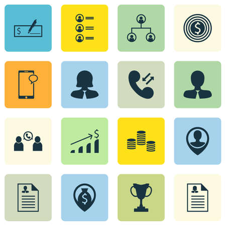 applicant: Set Of Management Icons On Cellular Data, Business Goal And Employee Location Topics. Editable Vector Illustration. Includes Trophy, Pin, Cup And More Vector Icons.