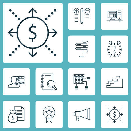 project charter: Set Of Project Management Icons On Schedule, Growth And Opportunity Topics. Editable Vector Illustration. Includes Making, Report, Fork And More Vector Icons.