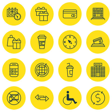 Set Of Traveling Icons On Accessibility, Forbidden Mobile And Locate Topics. Editable Vector Illustration. Includes Around, Holiday, Construction And More Vector Icons.