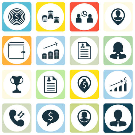 list of successful candidates: Set Of Management Icons On Money, Successful Investment And Phone Conference Topics. Editable Vector Illustration. Includes Female, Coins, Discussion And More Vector Icons.