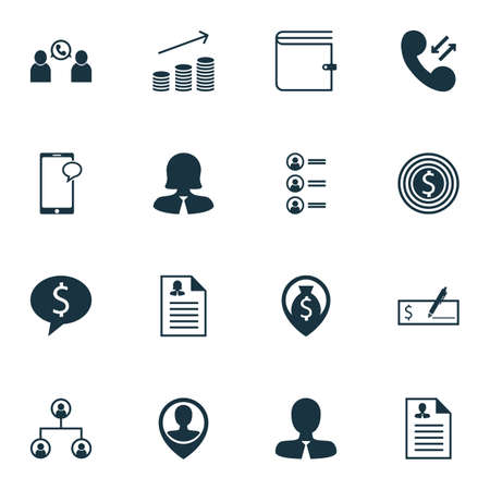 ability to speak: Set Of Human Resources Icons On Curriculum Vitae, Business Deal And Job Applicants Topics. Editable Vector Illustration. Includes Opinion, Call, Discussion And More Vector Icons. Illustration