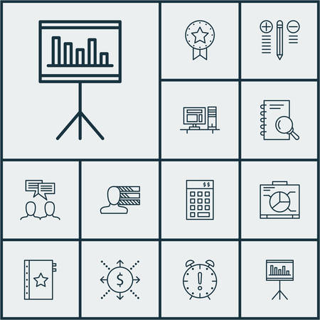personality development: Set Of Project Management Icons On Investment, Decision Making And Computer Topics. Editable Vector Illustration. Includes Cash, Workspace, Warranty And More Vector Icons.