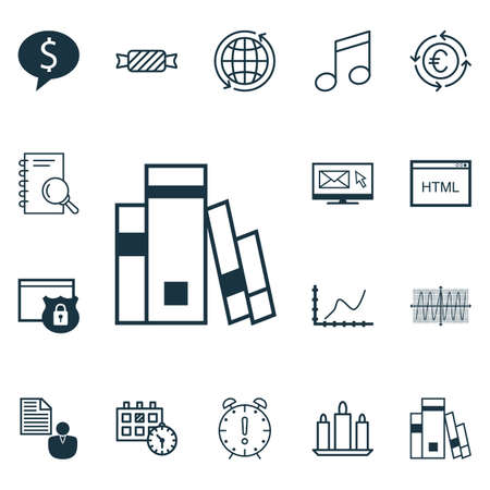 cosinus: Set Of 16 Universal Editable Icons. Can Be Used For Web, Mobile And App Design. Includes Icons Such As Newsletter, Cosinus Diagram, Coding And More.