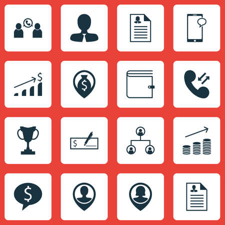 list of successful candidates: Set Of Management Icons On Business Deal, Manager And Bank Payment Topics. Editable Vector Illustration. Includes Growth, Organisation, Wallet And More Vector Icons. Illustration
