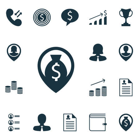 money wallet: Set Of Hr Icons On Money, Wallet And Money Navigation Topics. Editable Vector Illustration. Includes Wallet, Trophy, Application And More Vector Icons.