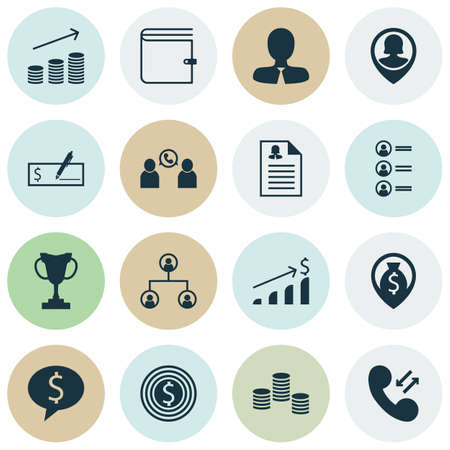 first form: Set Of Human Resources Icons On Tournament, Wallet And Successful Investment Topics. Editable Vector Illustration. Includes Success, User, Female And More Vector Icons. Illustration