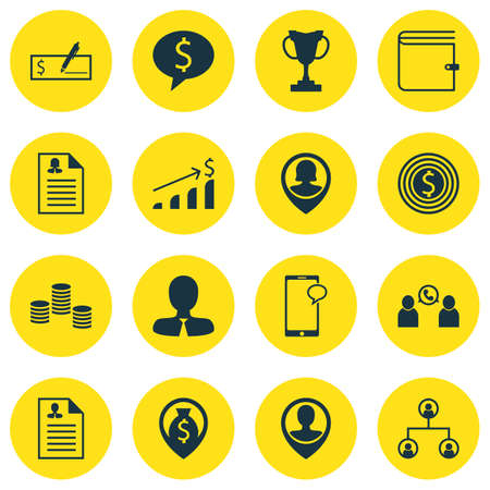 ability to speak: Set Of Hr Icons On Phone Conference, Tree Structure And Manager Topics. Editable Vector Illustration. Includes Prize, Wallet, Phone And More Vector Icons. Illustration