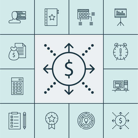 project charter: Set Of Project Management Icons On Report, Computer And Presentation Topics. Editable Vector Illustration. Includes Quality, Win, Statistic And More Vector Icons. Illustration
