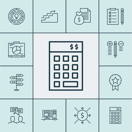 best employee: Set Of Project Management Icons On Discussion, Investment And Money Topics. Editable Vector Illustration. Includes Workspace, Win, Award And More Vector Icons. Illustration