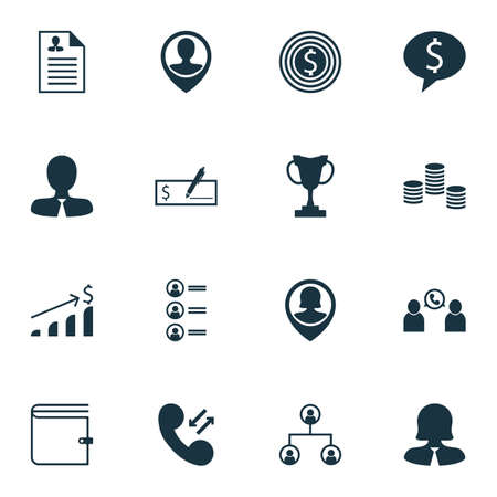list of successful candidates: Set Of Hr Icons On Bank Payment, Successful Investment And Phone Conference Topics. Editable Vector Illustration. Includes User, Female, Trophy And More Vector Icons.