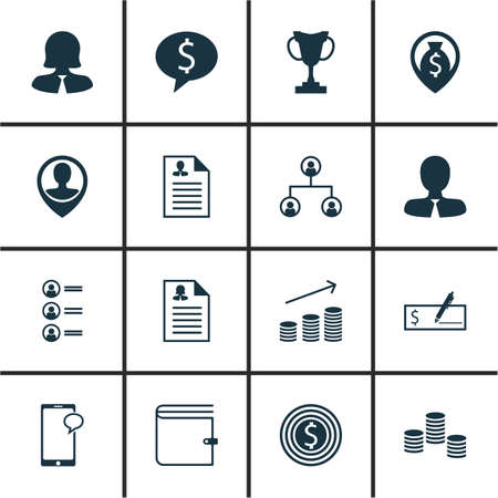 list of successful candidates: Set Of Hr Icons On Wallet, Business Deal And Business Woman Topics. Editable Vector Illustration. Includes List, Opinion, Map And More Vector Icons.