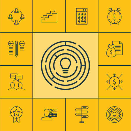 charter: Set Of Project Management Icons On Collaboration, Report And Innovation Topics. Editable Vector Illustration. Includes Collaboration, Award, Right And More Vector Icons.