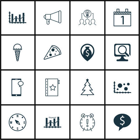 frozen food: Set Of 16 Universal Editable Icons. Can Be Used For Web, Mobile And App Design. Includes Icons Such As Money Navigation, Business Deal, Frozen Food And More.