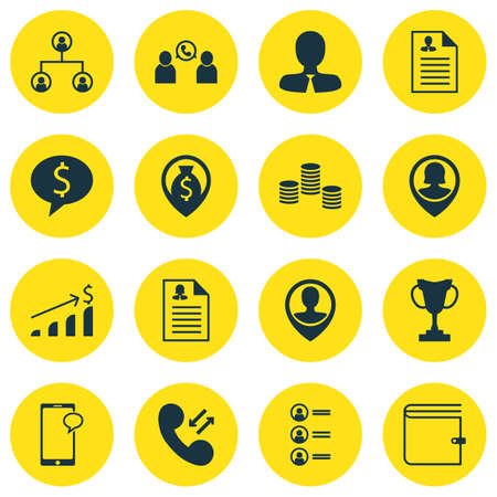 winning bid: Set Of Human Resources Icons On Employee Location, Successful Investment And Tree Structure Topics. Editable Vector Illustration. Includes Profile, Discussion, Applicants And More Vector Icons.