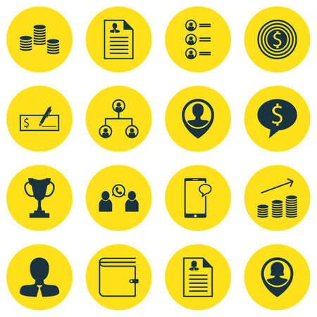 winning bid: Set Of Hr Icons On Coins Growth, Money And Phone Conference Topics. Editable Vector Illustration. Includes List, Structure, Pin And More Vector Icons.