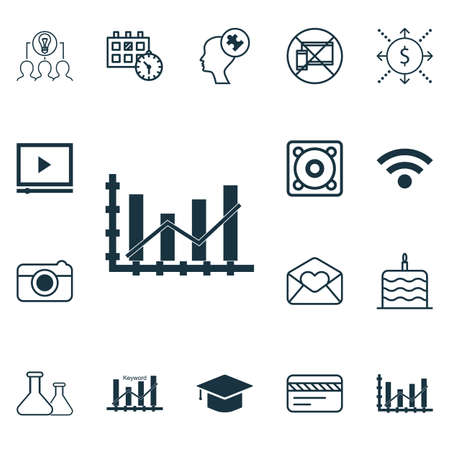 mind set: Set Of 16 Universal Editable Icons. Can Be Used For Web, Mobile And App Design. Includes Icons Such As Collaborative Solution, Human Mind, Wireless And More.