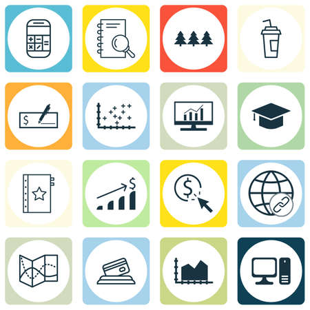 route master: Set Of 16 Universal Editable Icons. Can Be Used For Web, Mobile And App Design. Includes Icons Such As Holiday Ornament, Calculation, Bank Payment And More.