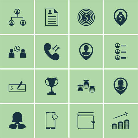 sms payment: Set Of Hr Icons On Messaging, Pin Employee And Phone Conference Topics. Editable Vector Illustration. Includes List, Call, Conference And More Vector Icons.