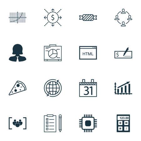 banco mundial: Conjunto de 16 iconos universales editables. Se puede utilizar para web, móvil y de App Diseño. Incluye iconos como la viruta, Mundo, pago del banco y más.