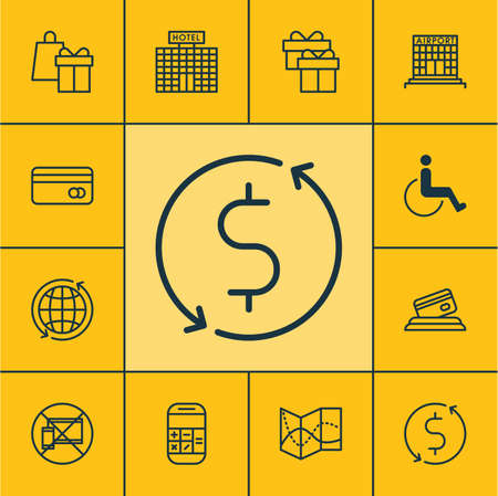 paralyzed: Set Of Transportation Icons On World, Credit Card And Calculation Topics. Editable Vector Illustration. Includes Card, Payment, Paralyzed And More Vector Icons. Illustration