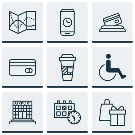 infirm: Set Of Transportation Icons On Appointment, Road Map And Accessibility Topics. Editable Vector Illustration. Includes Travel, Accessibility, Road And More Vector Icons.