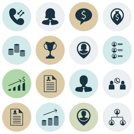 ability to speak: Set Of Hr Icons On Manager, Money And Job Applicants Topics. Editable Vector Illustration. Includes Pin, Male, Cash And More Vector Icons. Illustration