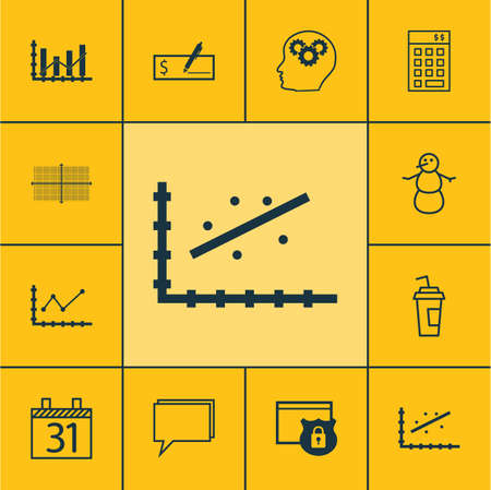 briefing: Set Of 12 Universal Editable Icons. Can Be Used For Web, Mobile And App Design. Includes Icons Such As Bank Payment, Investment, Drink Cup And More. Illustration