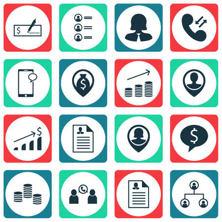 sms payment: Set Of Hr Icons On Curriculum Vitae, Money And Messaging Topics. Editable Vector Illustration. Includes Call, Organisation, Discussion And More Vector Icons.