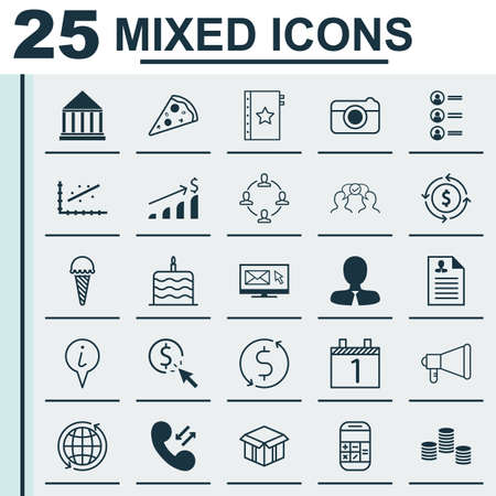 Set Of 25 Universal Editable Icons. Can Be Used For Web, Mobile And App Design. Includes Icons Such As Warranty, Newsletter, PPC And More.