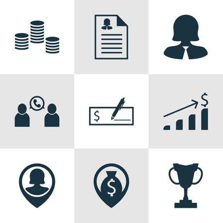 list of successful candidates: Set Of Management Icons On Bank Payment, Money Navigation And Business Woman Topics. Editable Vector Illustration. Includes Money, Bank, Conference And More Vector Icons.