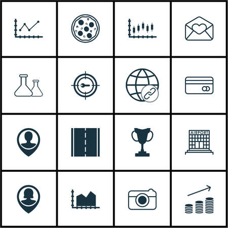 pay raise: Set Of 16 Universal Editable Icons. Can Be Used For Web, Mobile And App Design. Includes Icons Such As Employee Location, Changes Graph, Greeting Email And More.