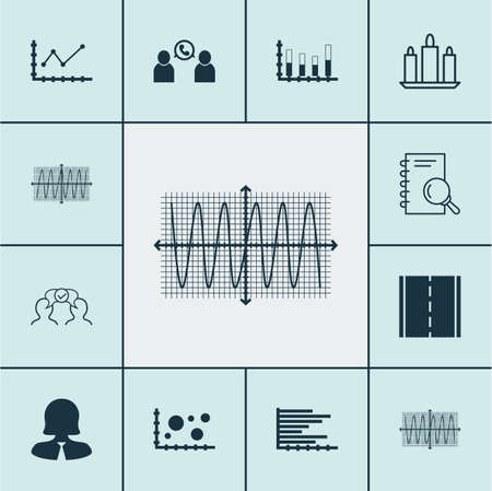 cosinus: Set Of 12 Universal Editable Icons. Can Be Used For Web, Mobile And App Design. Includes Icons Such As Sinus Graph, Bars Chart, Cosinus Diagram And More.