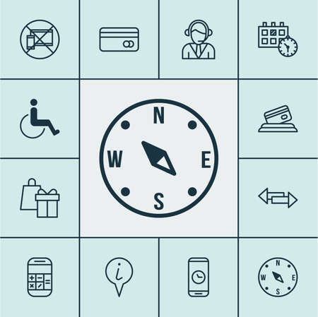 paralyzed: Set Of Transportation Icons On Accessibility, Plastic Card And Credit Card Topics. Editable Vector Illustration. Includes Map, Paralyzed, Center And More Vector Icons.