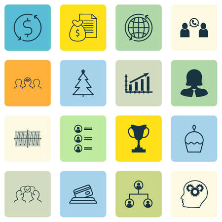 applicant: Set Of 16 Universal Editable Icons. Can Be Used For Web, Mobile And App Design. Includes Icons Such As Birthday Cake, Phone Conference, Money Trasnfer And More.