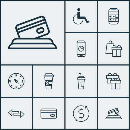 take charge: Set Of Transportation Icons On Accessibility, Present And Call Duration Topics. Editable Vector Illustration. Includes Time, Phone, Disabled And More Vector Icons.