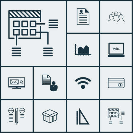 reporting: Set Of 12 Universal Editable Icons. Can Be Used For Web, Mobile And App Design. Includes Icons Such As Wireless, Plastic Card, Cooperation And More.
