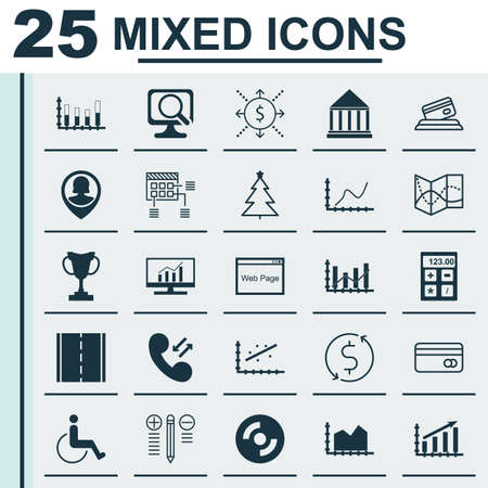 Set Of 25 Universal Editable Icons. Can Be Used For Web, Mobile And App Design. Includes Icons Such As Road Map, Plastic Card, Credit Card And More.