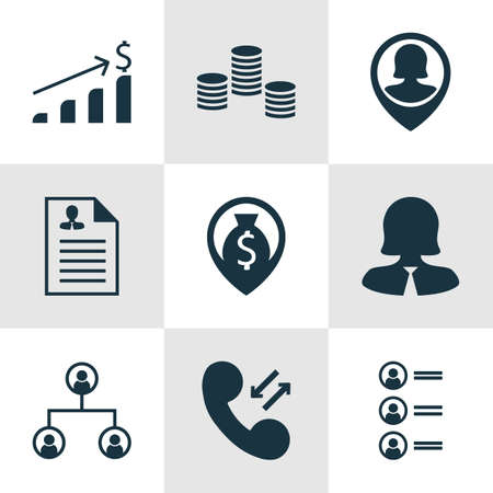 list of successful candidates: Set Of Human Resources Icons On Curriculum Vitae, Business Woman And Successful Investment Topics. Editable Vector Illustration. Includes Dollar, Career, Organisation And More Vector Icons. Illustration
