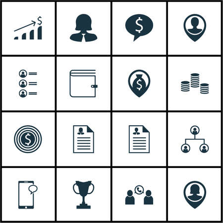 Set Of Hr Icons On Successful Investment, Employee Location And Messaging Topics. Editable Vector Illustration. Includes Increase, Pin, Chat And More Vector Icons.