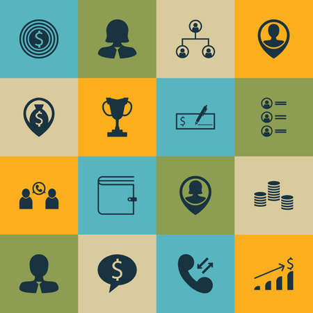 applicant: Set Of Management Icons On Business Goal, Tournament And Money Navigation Topics. Editable Vector Illustration. Includes Tree, Phone, Cash And More Vector Icons.