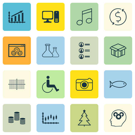 christmas debt: Set Of 16 Universal Editable Icons. Can Be Used For Web, Mobile And App Design. Includes Icons Such As Job Applicants, Stock Market, Decorated Tree And More.
