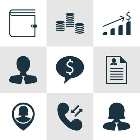 list of successful candidates: Set Of Management Icons On Pin Employee, Manager And Cellular Data Topics. Editable Vector Illustration. Includes Profile, Employee, Call And More Vector Icons.