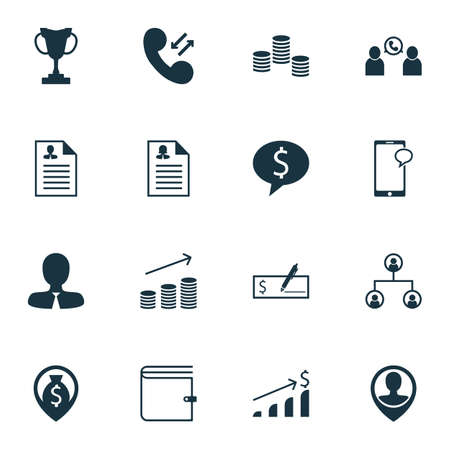 ability to speak: Set Of Management Icons On Money, Cellular Data And Wallet Topics. Editable Vector Illustration. Includes Purse, Wallet, Cash And More Vector Icons.