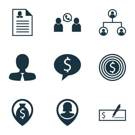 ability to speak: Set Of Management Icons On Business Goal, Female Application And Tree Structure Topics. Editable Vector Illustration. Includes Tree, Employee, Discussion And More Vector Icons. Illustration
